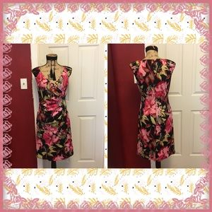 Beautiful Adrianna Papell Ruched Floral Dress